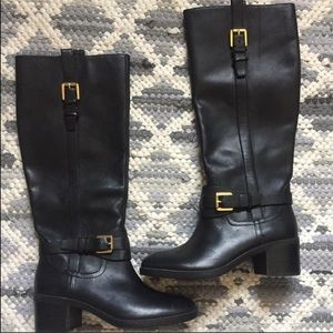 Ralph Lauren black tall boots
